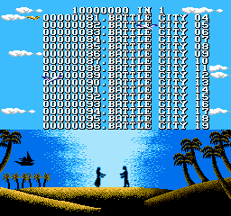 "110-in-1  <span title=""A dump of a pirated version of a game. These ROMs often have their copyright messages or company names removed or corrupted."" class=""label"">Pirated version 1</span>  - Screenshot 1/5"